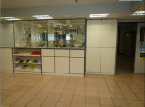 Can Be Custom-Made 4 Tiers HPL Material Display Cabinets