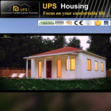 SABS Certificate Reliable Prefabricated House with Double Pitch Roof
