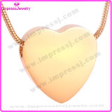 Stainless Steel Heart Pendent Urn Free Engraving Cremation Ashes Jewelry