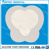 "Luofucone Foam Dressing Gentle Border 8"" X 6.75"" Sacral Adhesive Sterile"