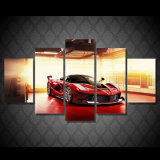 HD Printed Red Luxury Sports Car Painting Canvas Print Room Decor Print Poster Picture Canvas Mc-134