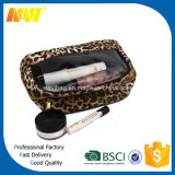Leopard Printing Cosmetic Bag Women with Mirror