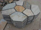 Nature Flooring Yellow Black Clture Roofing Mosaic Slate Tile