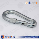 Carbon Steel Zinc Plated DIN5299 Carabiner Hook with Screw