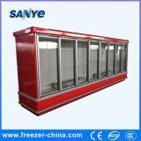 Air Cooling Glass Door Display Freezer for Beverage