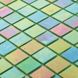 Building Materials Green Iridescent Floor Tile Bathroom Glass Sheets Mosaic