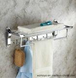 Towel Rack with Rod and Hooks for The Bathroom