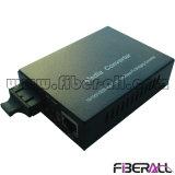 Multimode 10/100/1000m Media Converter Dual Fiber Sc 850nm 550meters
