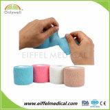 Cotton Latex Free Hand Tear Waterproof Colored Cohesive Bandage