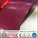 Two Tone Color Double Face PVC Leather for Bags Hot Sales