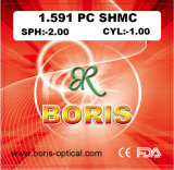 1.591 Polycarbonate Lens PC Single Vision Shmc Optical Lenses