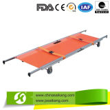 ISO9001&13485 Factory Comfortable Stretcher for Ambulance with Wheels