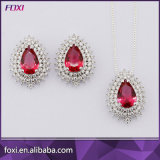Luxury Drop Design Fashion Pendant and Earrings Jewelry Sets
