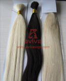 Chinese Virgin Remy Cuticles Intact Hair Extention Raw Human Hair Bulk