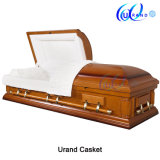 Wholesale Adult Wooden Western Competitive Velvet Casket and Coffin