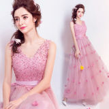 Cap Sleeves Party Prom Dresses Customized Beading Evening Gowns