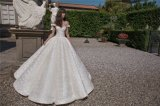 Cap Sleeves Ball Gowns Lace Sequins Bridal Wedding Dress 2018 Lb1818
