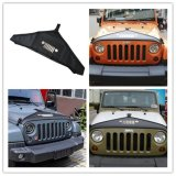 Hood Cover Black Front End T-Style Protector Kit for Jeep Jk Wrangler & Unlimited 2007-2016