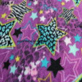 Star Printing Polar Fleece with 1 Side Antipilling