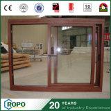UPVC Double Glazing Wooden Window with Australian Standard