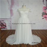 Special Sleeve Design Chiffon Beach Wedding Dress