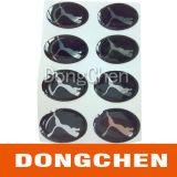 Custom Waterproof 3m Glue Clear Epoxy Resin Dome Stickers