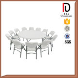 6FT HDPE Blow Molding Plastic Folding Round Table (BR-P010)