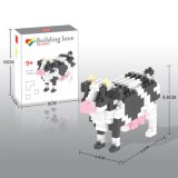 14889127-Micro Block Kit Animal Series Blocks Set Creative Educational DIY Toy 150PCS - Cow