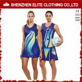 OEM Service Female Tight Sublimation Printing Netball Dress (ELTNBJ-153)