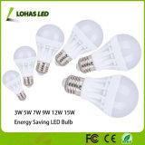 Energy Saving Plastic LED Bulb 3W 5W 7W 9W 12W 15W 18W LED Light Bulb with Ce RoHS China Manufacturer
