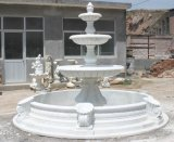 Natural White Gray Marble Granite Fountain