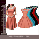Ladies Vintage Office Party Dress (TDN1503)