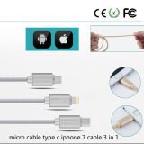 3 in 1 Fast Charging Data Cable for Mobile Phone