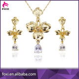 Wholesale Factory Price Real Gold Plated Jewelry Set for Girls