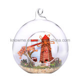 New Design Wooden Toy European Model Assembling Dollhouse with Glass Ball Best Gift Travel to Holland