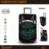 2600W Popular Bluetooth Wireless Active DJ Portable Rechargeable Battery Speaker
