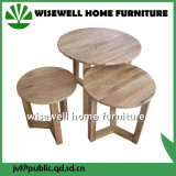 Solid Oak Nest of Lamp Tables