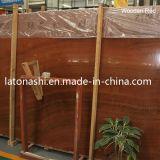 Natural Wooden Grain Red Marble for Slab, Tile, Countertop, Floor