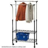 Extendable Adjustable Double-Rod Garment Shelf Racking (CJ-B1028)