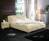Modern Soft Leather Bedroom Furniture with Bedstands (J360)