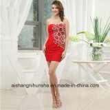 Sweethheart Short Above Chiffon Straight Appliques Sheath Prom Dress