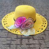 Custom Women Straw Hat with Flower Decoration