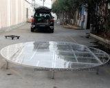 Luxury Round Glass Stage Lighting Circle Shape Performance Platform