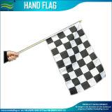 Stick Flag, Hand Waving Flag, , Checked Hand Held Flag, Hand Flag (J-NF01F02023)