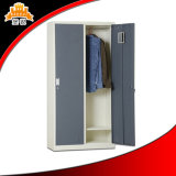 Steel 2-Door Bedroom Personal Metal Storage Clothes Wardrobe