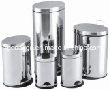 Oval Shape Stainless Steel Dustbin (LTP)