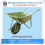 Square Pattern Rib Tire Wheel Barrow Sturdy and Durable