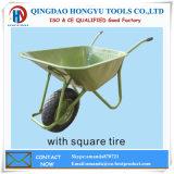 Square Pattern Rib Tire Wheel Barrow Sturdy and Durable