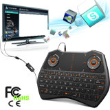 Zoweetek Touch Screen Backlit Computer Keyboard with Microphone for Smart TV, TV Box