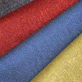 Glitter Net Design Synthetic PU Leather Shining Shoe Bag Leather